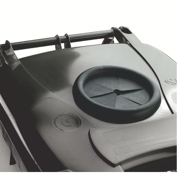 Wheelie Bin 120L With Bottle Bank Aperture and Lid Lock Grey 376846