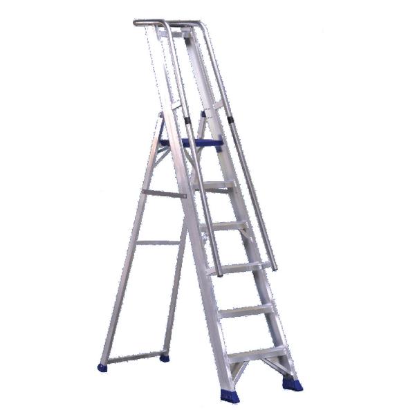 Aluminium 7 Steps Ladder With Platform 377857