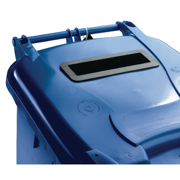 Blue Confidential Waste Wheelie Bin 360 Litre With Slot and Lid Lock 377893