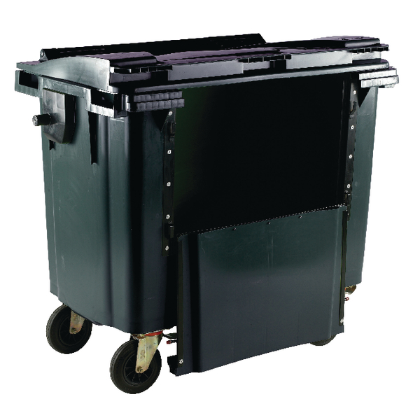 Grey 770 Litre Wheeled Bin With Drop Down Front 377972