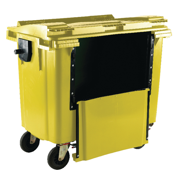 Yellow 770 Litre Wheeled Bin With Drop Down Front 377973