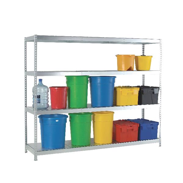 Heavy Duty Galvanised Additional Shelf 1800x600mm Orange/Zinc 378890