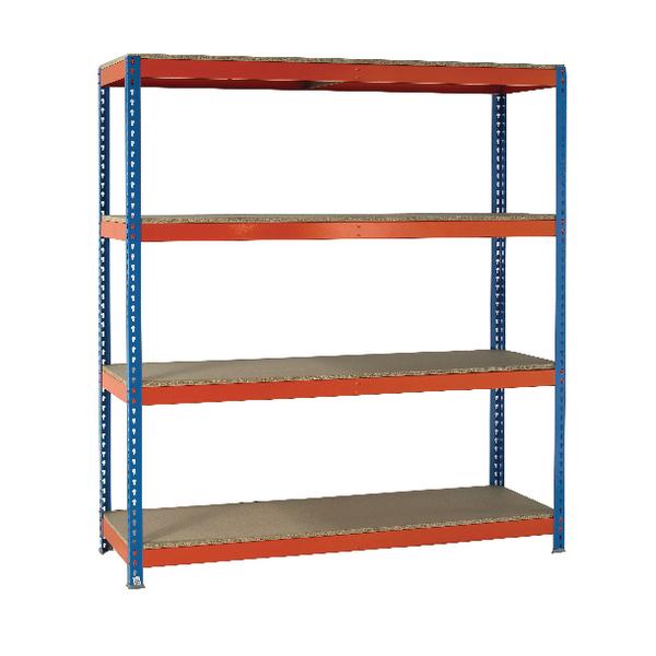 VFM Orange/Zinc Heavy Duty Painted Shelving Unit 379028