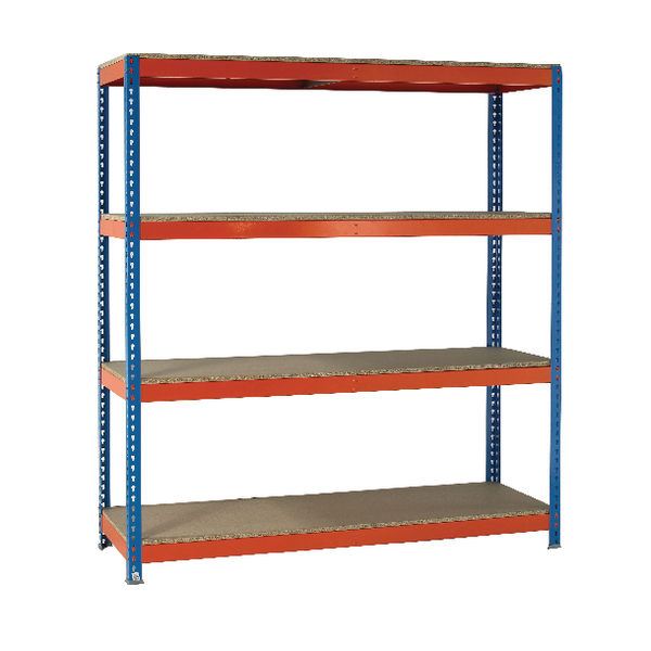 VFM Orange/Zinc Heavy Duty Painted Shelving Unit 379077