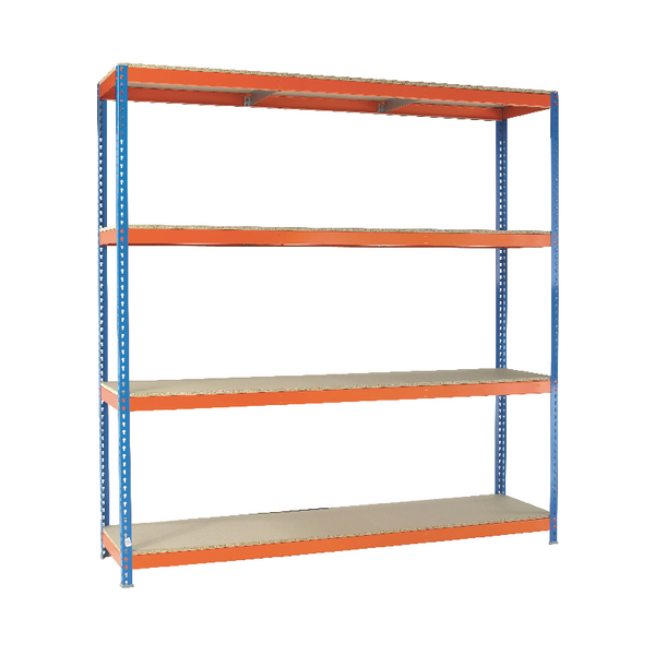 VFM Orange/Zinc Heavy Duty Painted Shelving Unit 379221