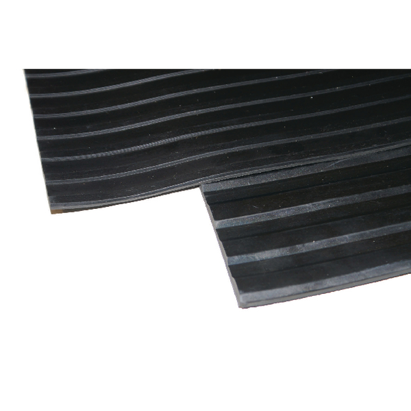 Image for Broad Ribbed Matting 3mm 900mm X1 Linear Metre Black 379271