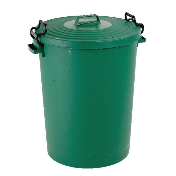 Green Light Duty 110 Litre Dustbin With Lid 382068