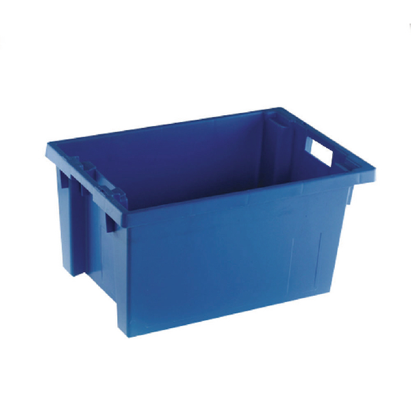 Solid Slide Stack/Nesting Container 600X400X300mm Blue 382966