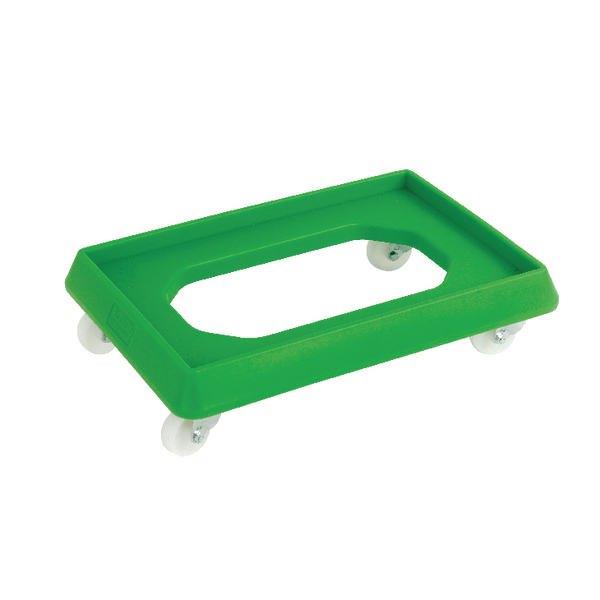VFM Green Plastic Dolly For 600x400mm Containers 382991