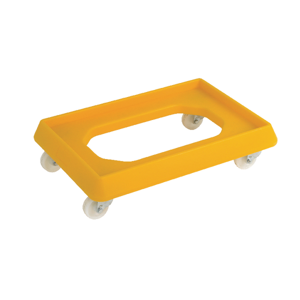 VFM Yellow Plastic Dolly For 600x400mm Containers 382992