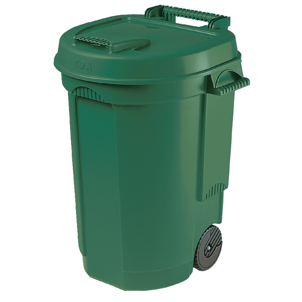 Green Mobile 110 Litre Dustbin (Pack of 1) 383420