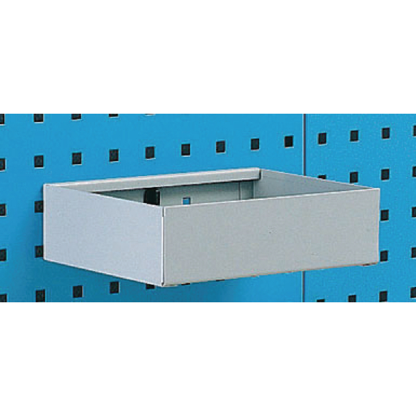 Image for Metal Tray Shelf Plain 255mm Grey 306994
