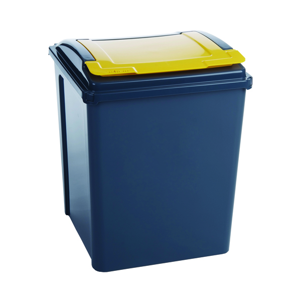 VFM Yellow Grey/Yellow Recycling Bin With Lid 384287