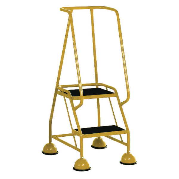 Yellow 2 Tread Tubular Steel Step