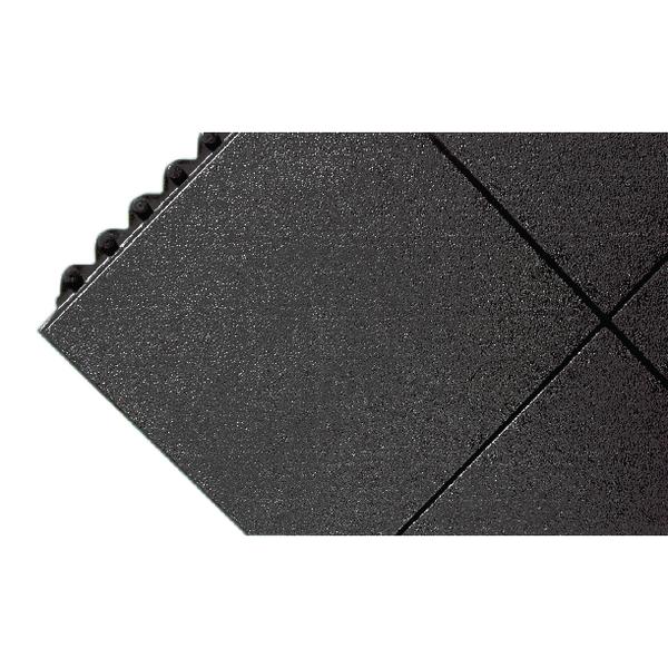 All-Purpose Anti-Fatigue Modular Mat Solid Surface Black 312413