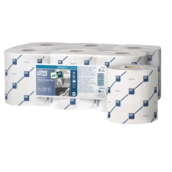 Tork ReflexCentrefeed Roll 2-Ply 150m White 473264 Pack of 6
