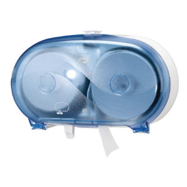 Tork Mid Size Toilet Paper Dispenser Blue Plastic (Pack of 1) 472056