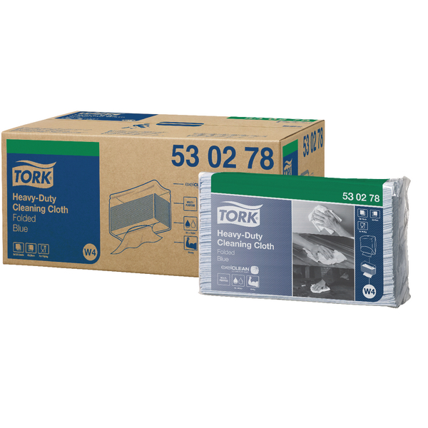 Tork Heavy Duty Cleaning Cloth W4 Refill Blue Pack of 500 530278