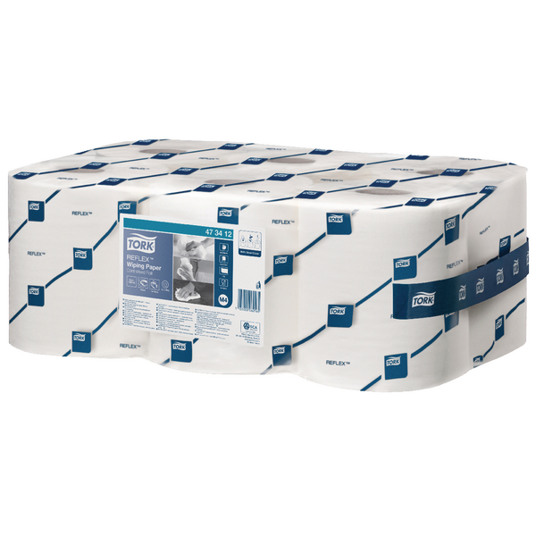 Tork ReflexCentrefeed Roll 1-Ply 113.9m White 473412 Pack of 6