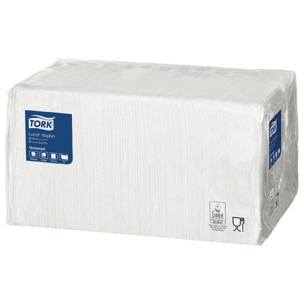 Tork Lunch Napkin 1-Ply 4 Fold White (Pack of 556) 478744