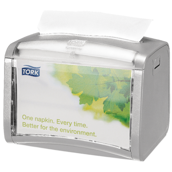 Tork Silver Xpressnap Tabletop Napkin Dispenser (Pack of 1) 272613