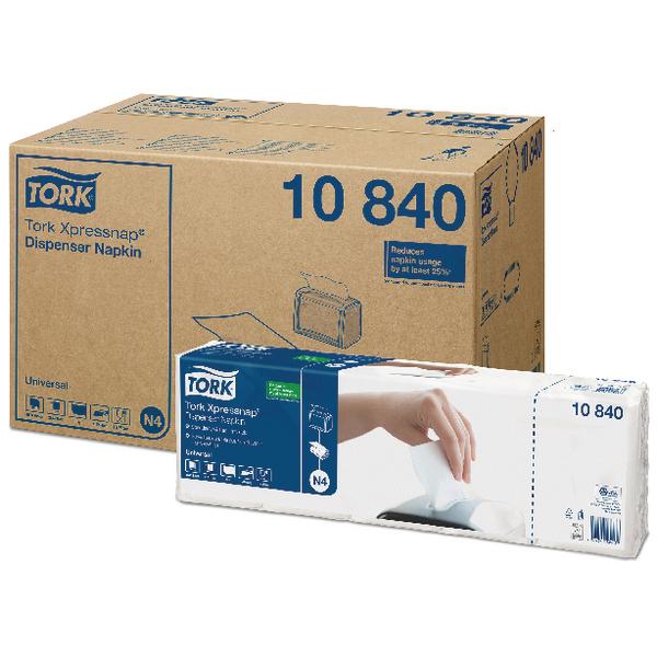 Tork Xpressnap White 1 Ply Napkins (Pack of 9000) 10840