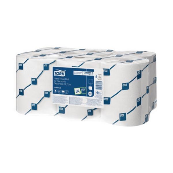 Tork Hand Towel Roll 1 Ply White For Electronic Dispenser 471116 (Pack of 6)