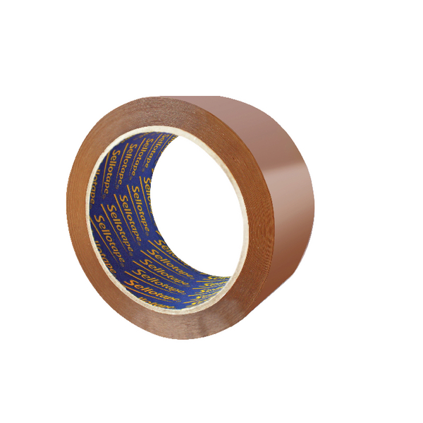 Sellotape Brown Vinyl Case Sealing Tape 50mm x 66m Pack of 6 503846