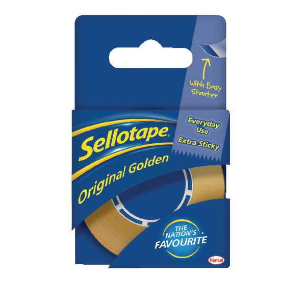 Sellotape 18mm x 25m Golden Tape Pack of 8 1443169