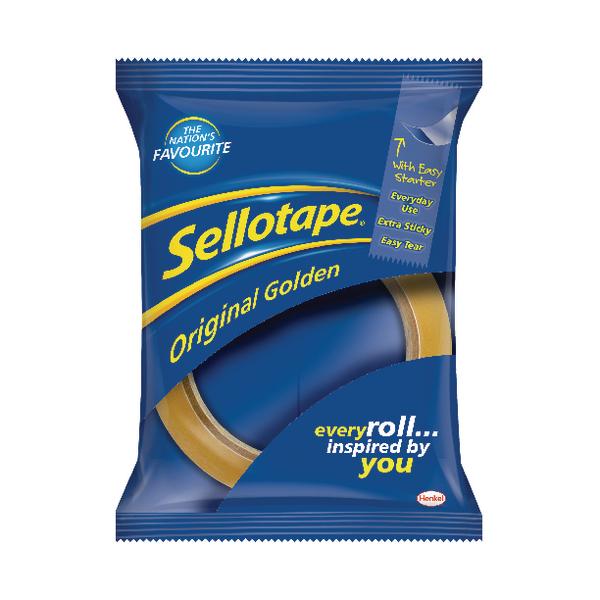 Sellotape 24mm x 66m Golden Tape (Pack of 12) 1443268