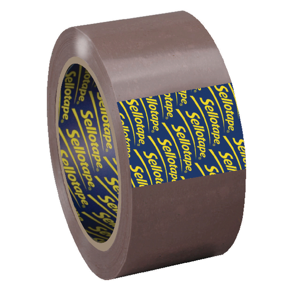 Sellotape Brown Packaging Tape 50mm x 66m Pack of 6 1445172
