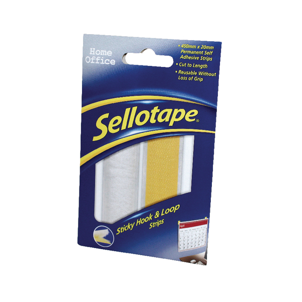 Image for Sellotape Sticky Hook and Loop Strip 1445183
