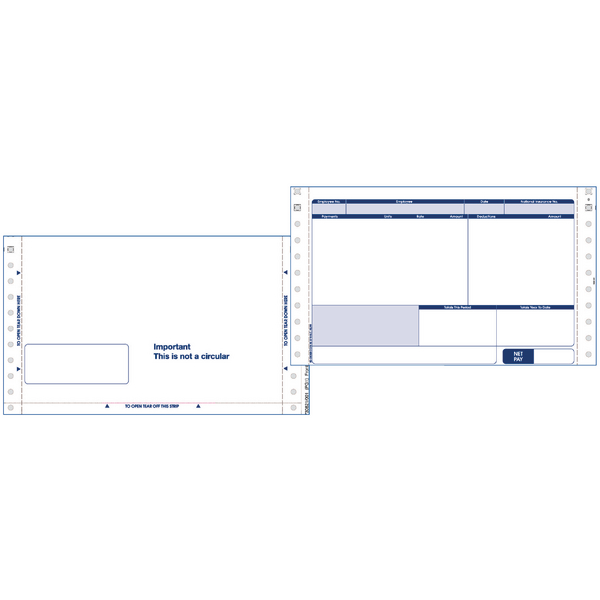 Image for Custom Forms Sage Security Address Payslips (Pack of 1000) SE37