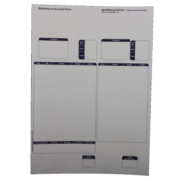 Image for Custom Forms Sage A4 1-Part Laser Sales Ledgers 90gsm (Pack of 500) SE85S