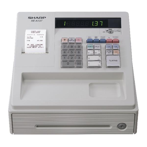 Image for Sharp XE-A137 Cash Register Black XEA137WH