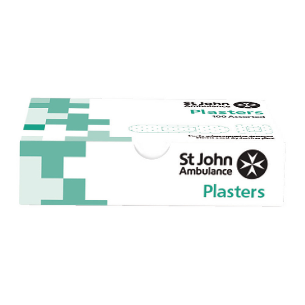 St John Ambulance Washproof Plasters Assorted Sizes (Pack of 100) F94021