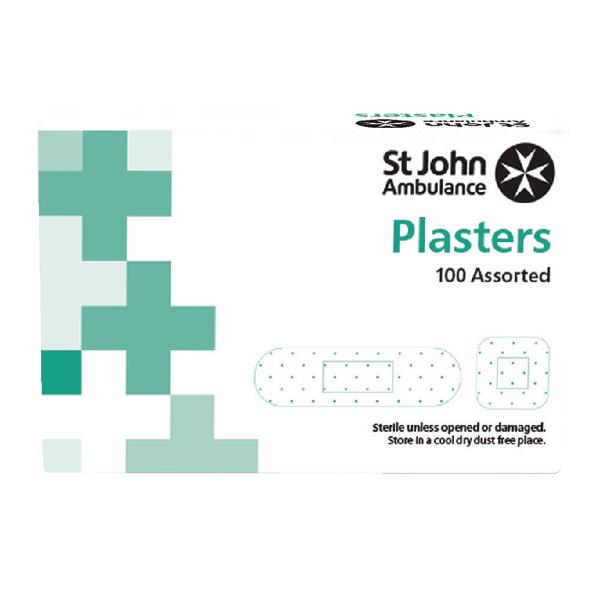 St John Fabric Plasters Asstd Pk100