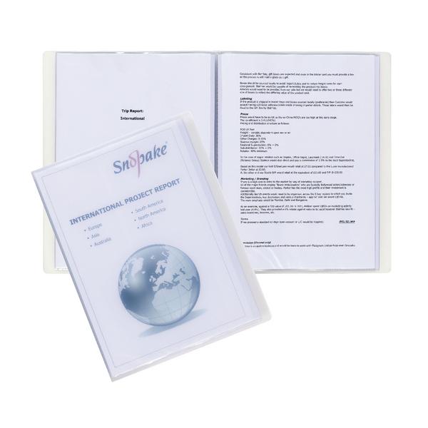 Image for Snopake Superline A4 Presentation Book 10 Pocket Polypropylene Clear 11904