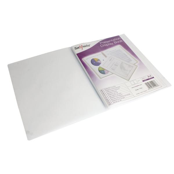 Image for Snopake Superline A4 Presentation Book 20 Pocket Polypropylene Clear 11951
