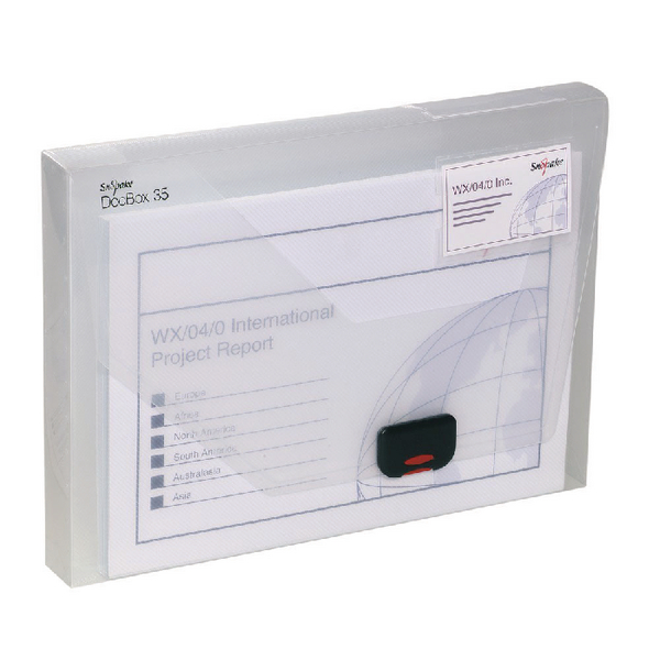 Snopake A4 35mm Clear Document Box 12861