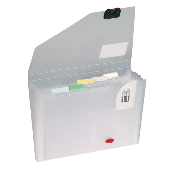 Image for Snopake 6 Part Expanding Organiser A4 Clear 11893