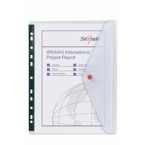 Snopake Polyfile Clear Ring Binder Wallet 5 Pack 12566