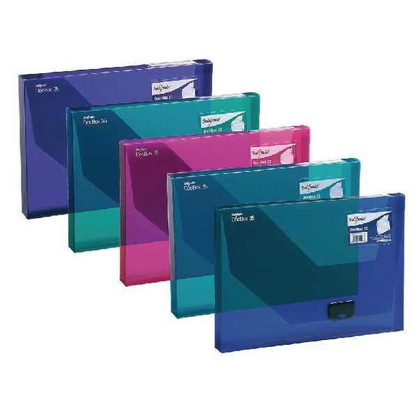 Snopake A4 25mm Electra Assorted Document Box (Pack of 5) 14832