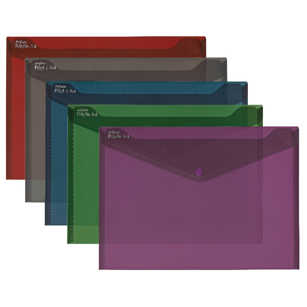 Snopake Polyfile Fusion Assorted A4 (Pack of 5) 15643