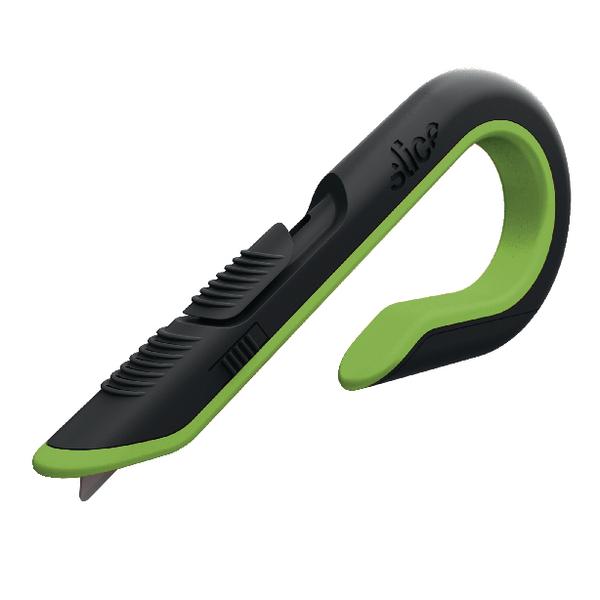 Slice Box Cutter Auto Retractable Green/Black 10503