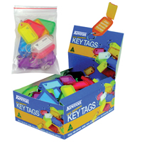 Image for Kevron Clicktag Plastic Assorted (Pack of 100) plus 20 Standard Key Tags FOC