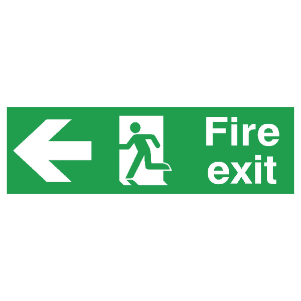 Fire Exit Sign 150x450mm FX04311R