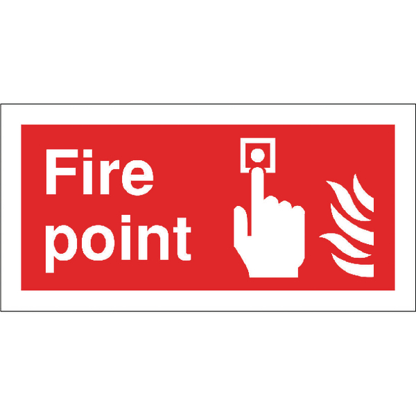 Safety Sign Fire Point 100x200mm Self-Adhesive FR07903S