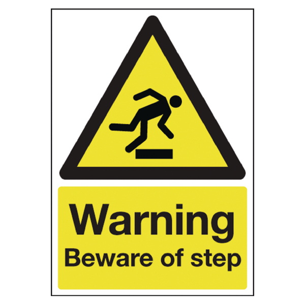 Warning Beware Of Step A5 PVC HA21451R