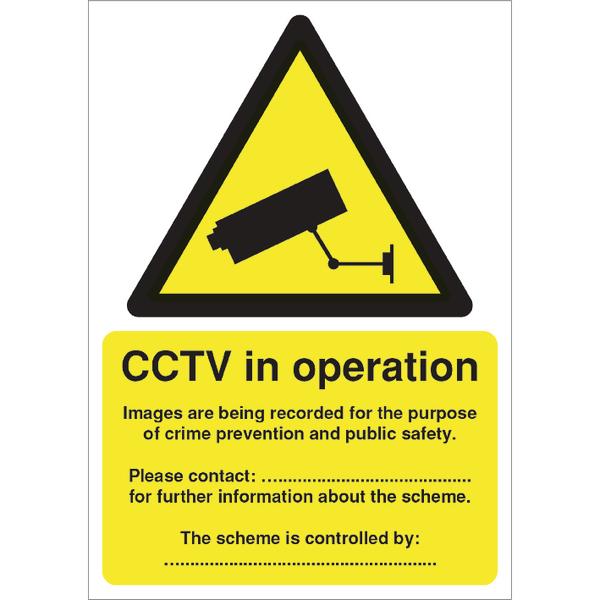 Sign DPA Compliant CCTV A5 PVC DPACCTVR